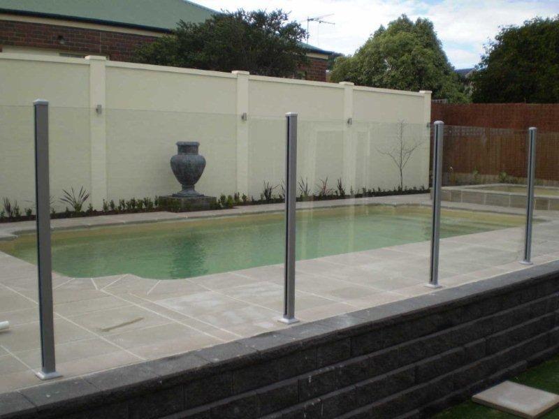 Glass Pool Fencing Melbourne - Semi Frameless Glass Hampton
