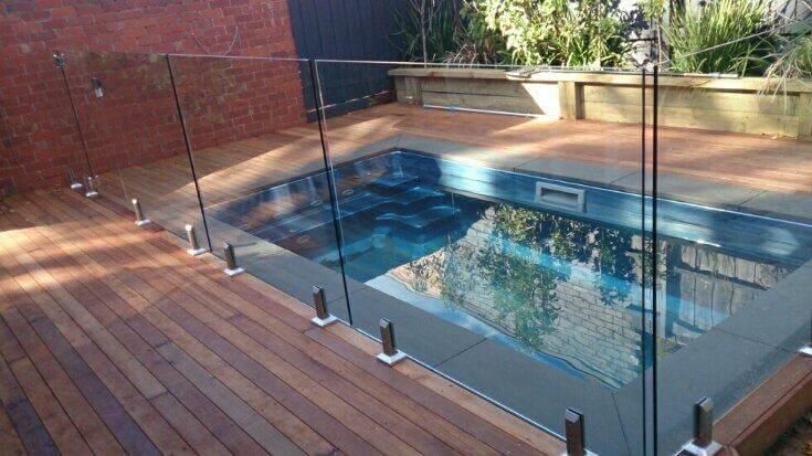 Glass Fencing - Melbourne - Frameless Glass Around Small Area